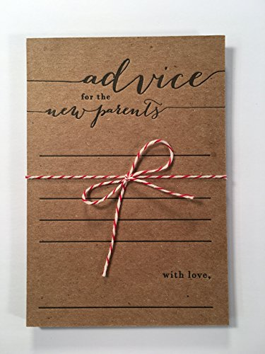 advice for the new parents letterpress note card set, co-ed baby shower, keepsake, expecting parents