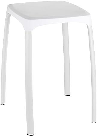Wenko 22475100 Tabouret de Salle de Bains Losani Plastique, Blanc ...