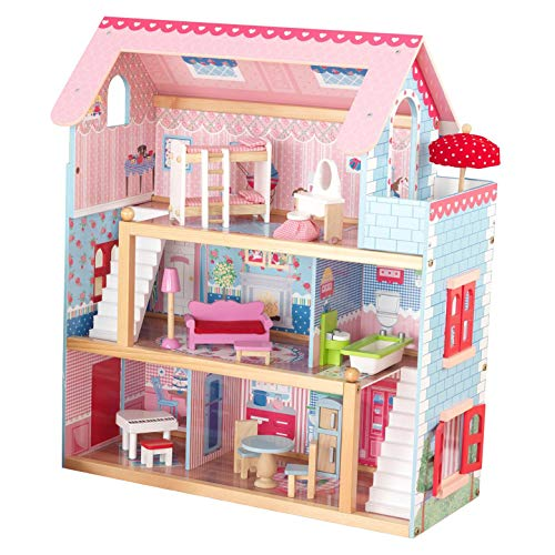 KidKraft Chelsea Wooden Dollhouse Pretend Play Cottage with Furniture | 65054 ()