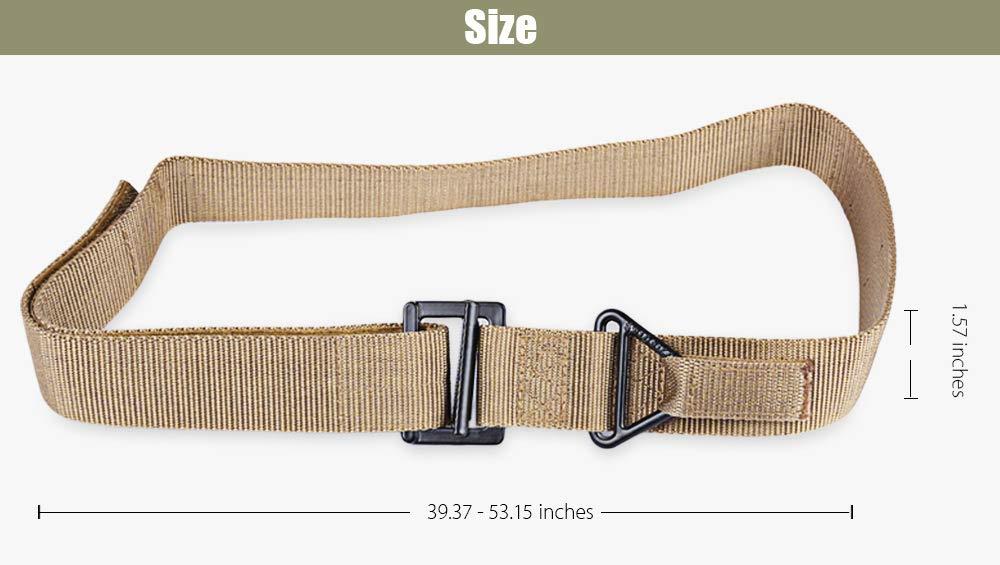 TrifyCore Cintur/ón Militar t/áctico Ajustable Guerra al Aire Libre Cintur/ón Militar