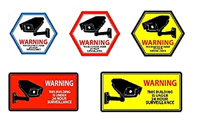 Mandala Crafts Home Business CCTV Surveillance Security Camera Video Warning Sticker Sign from Mandala Crafts
