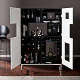 Southern Enterprises Shadowbox Wine/Bar Cabinet, Black