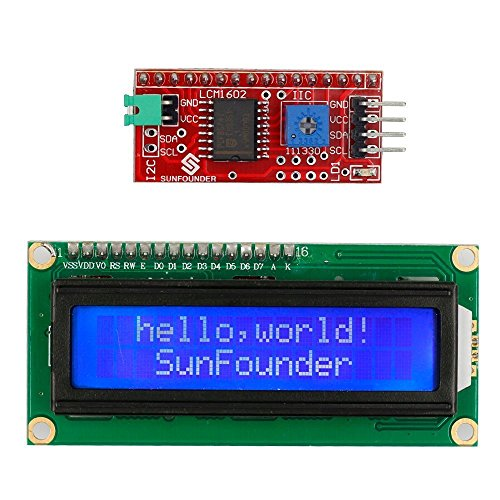 SunFounder IIC I2C TWI 1602 Serial LCD Module Display for Arduino Uno R3 Mega 2560 16x2