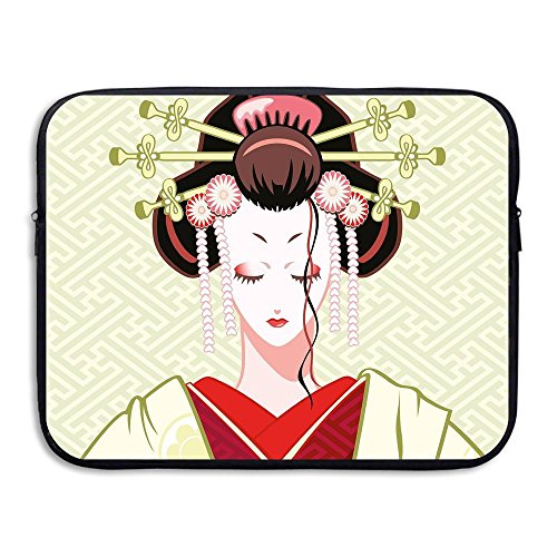 Womens Liner Traditional (Too Suffering Protective Case Waterproof Computer Portable Bags Geisha Woman Portrait Traditional Asian Kimono Computer Liner Package 13inch And 15inch)