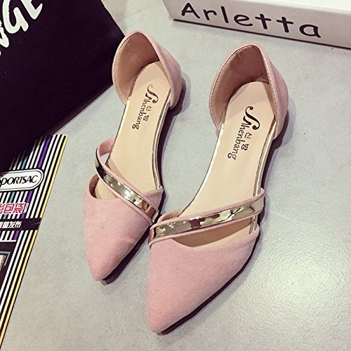 Sandals Nubuck Elegant Shoes Metallic on Pink Flat Gladiator WoMen Soft Loafers Slip Sparkle wxqP40PYXZ
