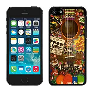 The Beatles Hippie Guitar Black Best Buy Customized Design iPhone 5C Case