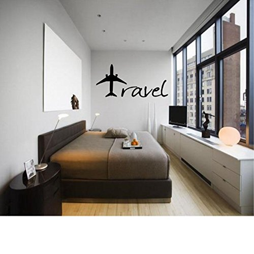 Phantomx TRAVEL Plane Decor Wall Art Decal Quote Words Lettering DIY (Simple Halloween Makeup Tumblr)