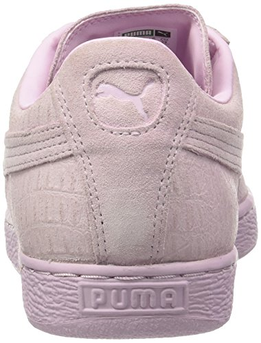 Puma Unisex Adults' Suede Classic Casual Emboss Trainers, Multicoloured Purple (Lilac Snow 8)