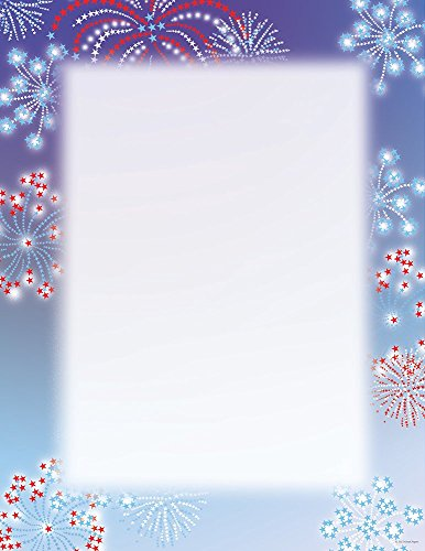 "Great Papers! Patriotic Stars Letterhead, 80 Count, 8.5""x11"" (2014284)"