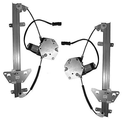 Driver and Passenger Rear Power Window Lift Regulators & Motors Assemblies Replacement for Dodge Durango Dakota 55256495AF 55256494AF AutoAndArt