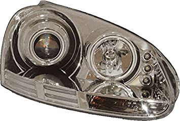 Golf 5 Lampen : Projektor scheinwerfer beleuchtung lampe lhd angel eyes chrom golf