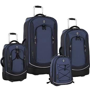 Timberland Luggage Claremont Four Piece Luggage Set, Blue/Navy/Black, One Size