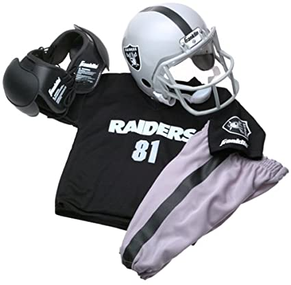 Amazon.com   Franklin Sports NFL Oakland Raiders Youth Team Uniform ... 358e671de