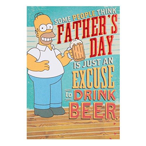 Hallmark Simpsons Father's Day Card 'Drink Beer' - Medium