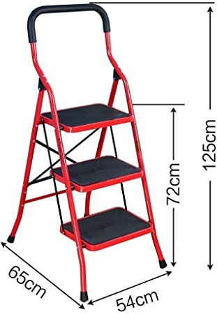 MMWYC Escalera de Aluminio Ligero de 3 peldaños Plegable Taburete Escalera de casa y Cocina Escalera Antideslizante Resistente y Amplia Pedal escaleras 330 Libras Capacidad Ahorro de Espacio: Amazon.es: Hogar