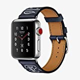 Apple Watch Series 3  Hermès - GPS+Cellular - Stainless Steel Case with Marine Gala Leather Single Tour Eperon d'Or - 38mm