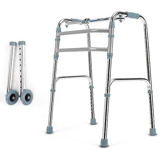 LIQIN Rehabilitación Andador Reposabrazos de Aluminio Plegable ...