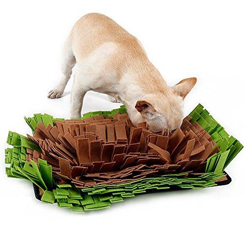 KenBu Pet Snuffle Mat,Dog Nosework Mat, Dog Nose Work Blanket,Slow Feeding Mat Dog Training and Feeding Mat Dog Play Mat for Small, Medium and Large Dogs (Green) by KenBu