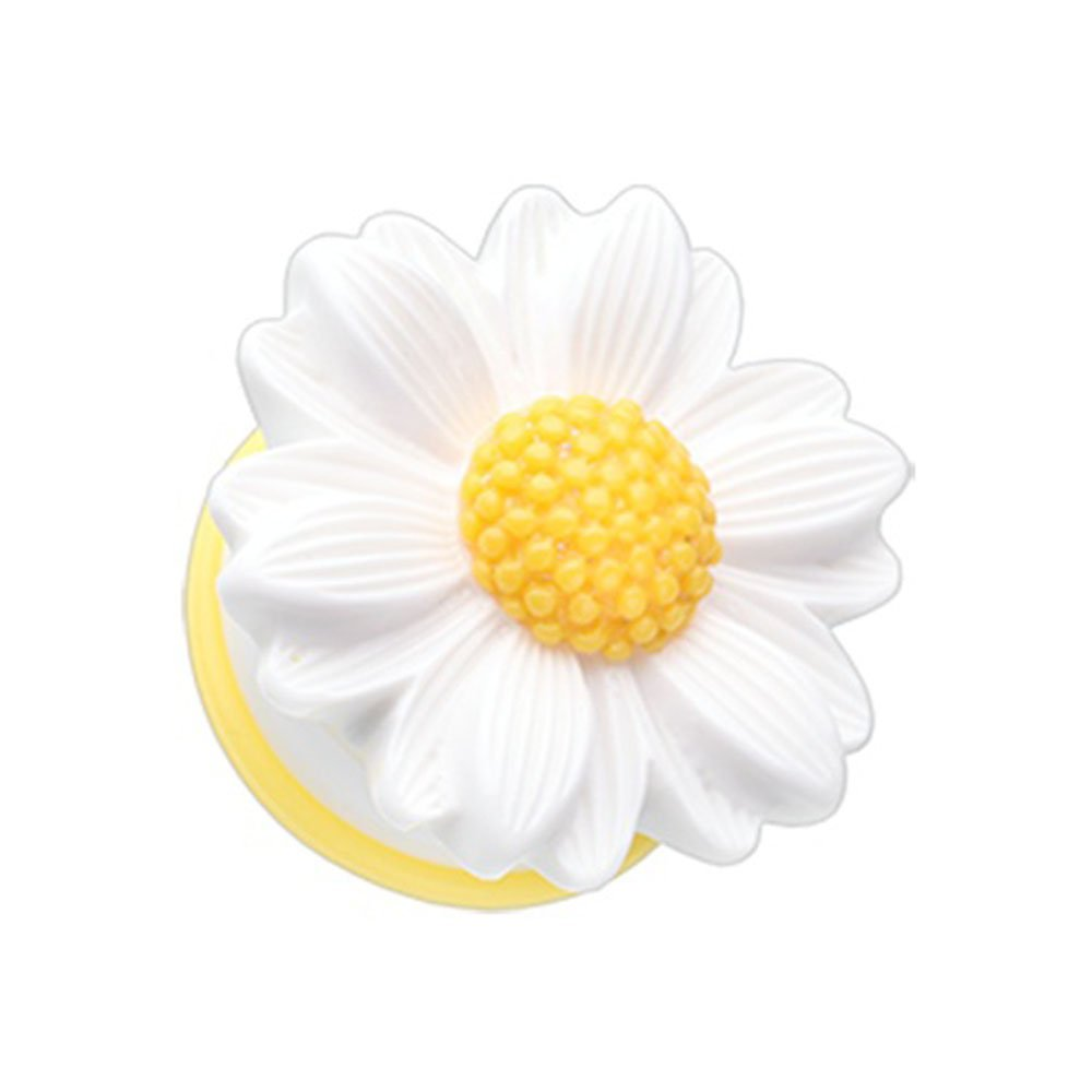Inspiration Dezigns White Cutesy Daisy Flower Single Flared PlugsSold as Pairs