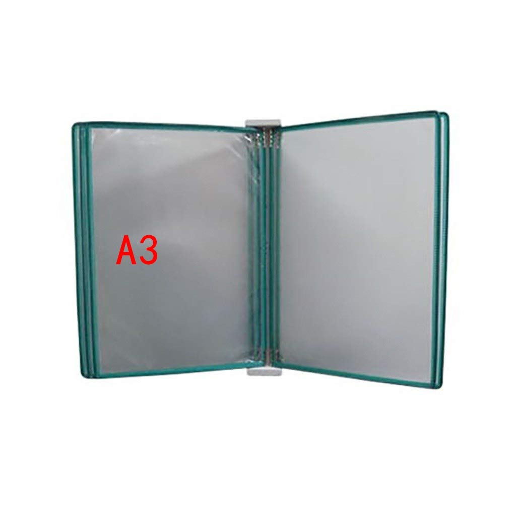 QSJY File Cabinets Flip Folder a3 with 5 Panels and 10 Pockets(PVC+Metal) 45324.5CM (Color : H)