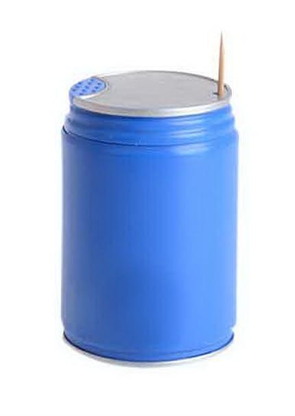 Koala Superstore Latas Cepillo de Dientes automático Creative Coca-Cola de presión Toothpicks Tubo Azul