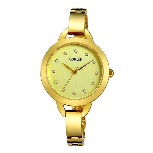 Lorus Reloj Analógico para Mujer de Cuarzo con Correa en Acero Inoxidable RG226KX9: Amazon.es: Relojes