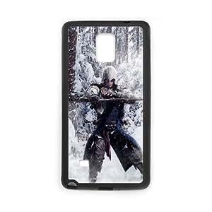Assassin'S Creed funda Samsung Galaxy Note 4 Negro de la cubierta del teléfono celular de la cubierta del caso funda EBDOBCKCO16923