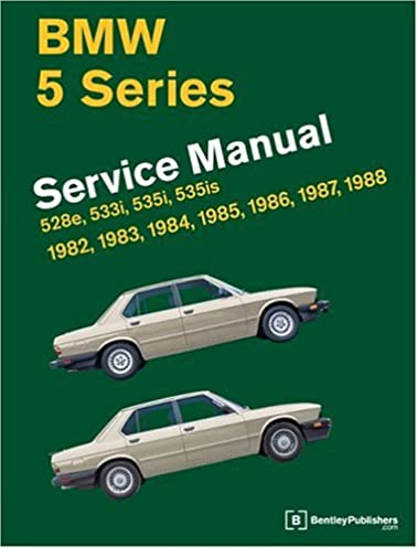 bmw 5 series service manual 1982 1988 528e 533i 535i 535is rh amazon com bmw x5 owners manual 2011 bmw x5 owners manual 2014