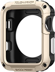 Spigen Tough Armor Designed for Apple Watch Case for 42mm Series 3 / Series 2 / Series 1 and Built in Screen Protector - Champagne Gold