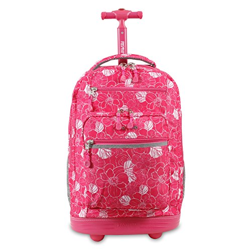 J World New York Sundance Rolling Backpack, Aloha, One Size