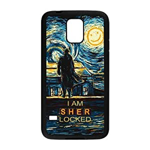 Fashion Hard Shell Snap On Slim Phone Cover Case for Samsung Galaxy S5 i9600 - Sherlock