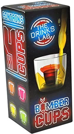Bomber Cups Gift Pack - Perfect Gift For Jager Bomb Lovers - UV Neon Middle Chambers (NEW PACKAGING) by The Bomb Cup Shop: Amazon.es: Hogar