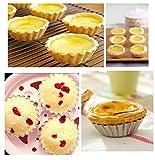 Tosnail 50pcs Egg Tart Aluminum Cupcake Cake Cookie