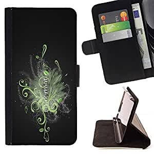 For Samsung Galaxy Core Prime cool abstract mint Linux Style PU Leather Case Wallet Flip Stand Flap Closure Cover