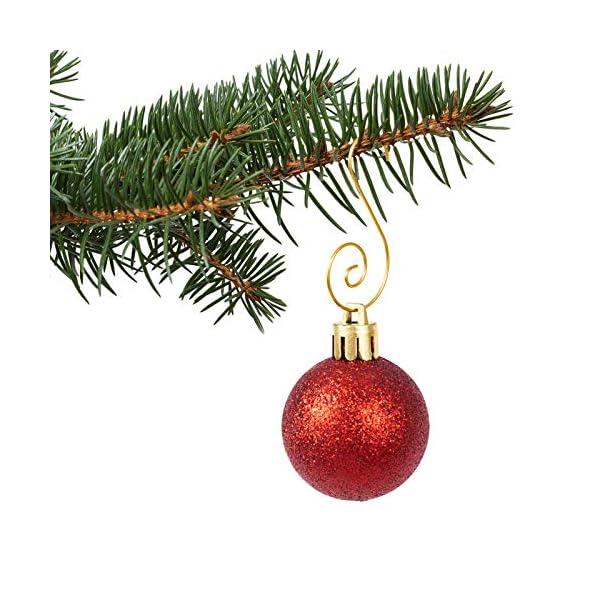 MELLIEX 120 Pezzi Natale Ornamento Ganci in Metallico S Ganci Appendini con Ornamento a Spirale per Ornamento dell'Albero di Natale 4 spesavip
