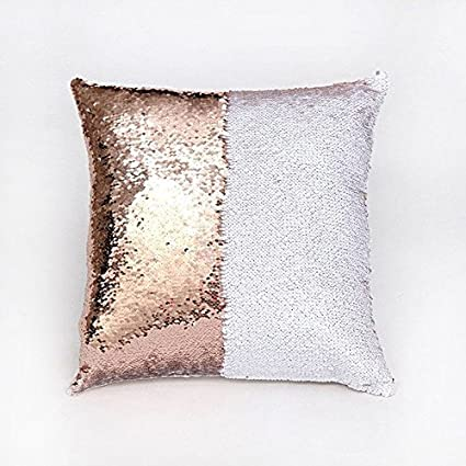 2 x Rose Gold Sequins Glitters Cushion Cover Cases Home Car Sofa Home Decor UK