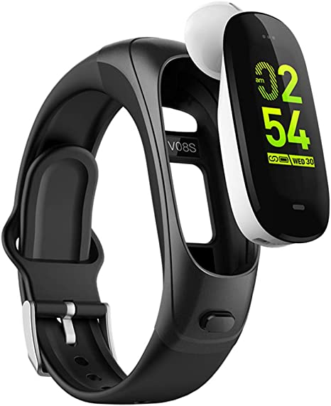 DSMART H3 Smartwatch 3in1 Smartband Sports Smart Watches with TWS Bluetooth Wireless Headsets+ All-Day Heart Rate Blood Pressure Sleep Health Monitor+ ...