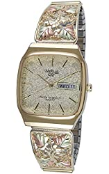 Black Hills Gold Champagne Dial Day and Date Mens Watch 9-WB32