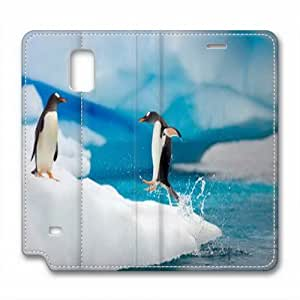 LGTOO Samsung Galaxy Note 4 Case,The little penguin Custom Samsung Galaxy Note 4 High-grade leather Cases