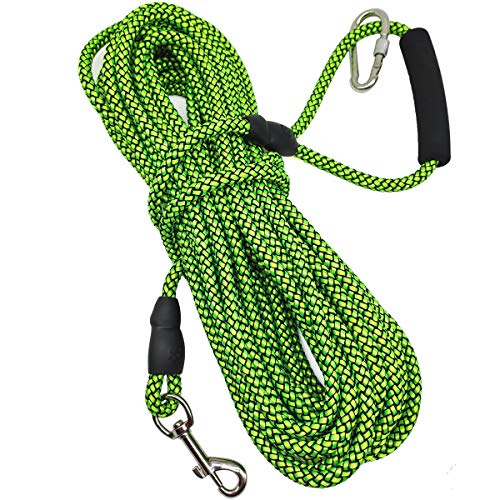 - Mycicy 10ft 15ft 30ft Long Line Training Rope Leash, Soft Handle Heavy Duty Nylon Recall Lead for Small Medium Large Dogs