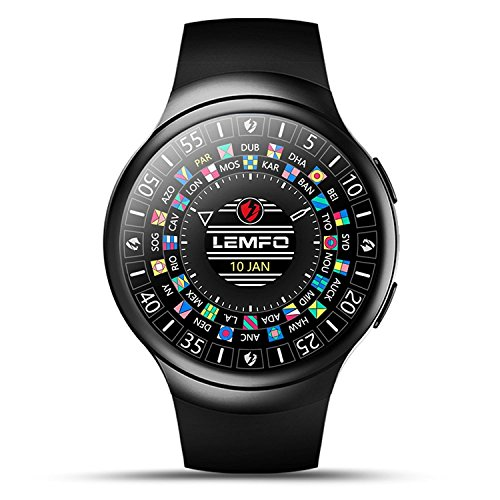 | LEMFO Android 5.1OS 3G Smart Watch Phone Wifi BT GPS Pedometer Heart Rate Smartwatch for Android 5.0 & iPhone IOS 8.0