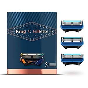 King C.Gillette Recharges De Lames, Rasage Et Contours, Permet D'Atteindre Les Zones Difficiles, Pack de 3 Lames de…