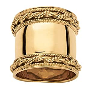 Amazon.com: Seta Jewelry 18k Gold Over .925 Sterling
