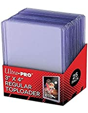 Ultra Pro UP81222 25 - 3 X 4 Top Loader Card Holder for Baseball, Football, Basketball, Hockey, Golf, Single Sports Cards Top Loads