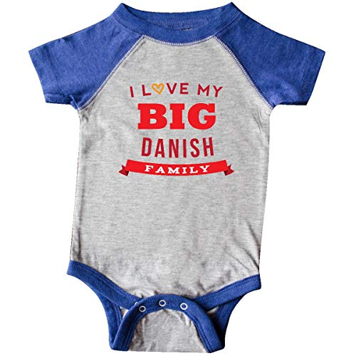 (inktastic - Big Danish Family Infant Creeper 24 Months Heather and Royal 25765)