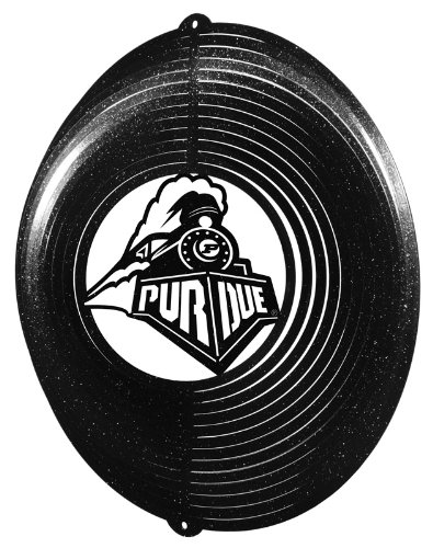 (SWEN Products PURDUE BOILERMAKERS Circle Swirly Metal Wind Spinner)