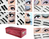 Bundle Monster 70 Pairs Fake/False Eyelashes - 7 Different Styles - 10 Pairs Each Variety Pack Set