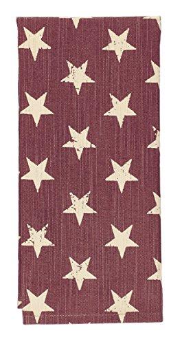 Olivia's Heartland Stargazer Pino - Burgundy Red Dishtowel