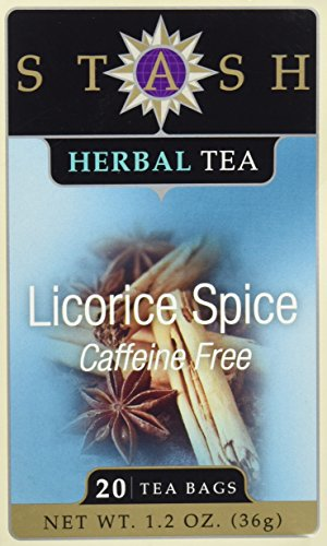 STASH TEA TEA,HERBAL,LICORICE SPICE, 20 BAG, 1.2 Oz Licorice Spice