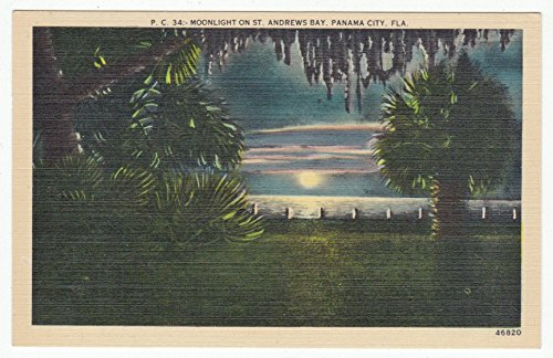 St. Andrews Bay, Panama City, Florida Vintage Original Postcard #0880 - 1940's